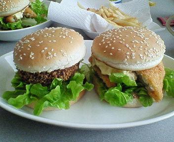 ハンバーガー定食